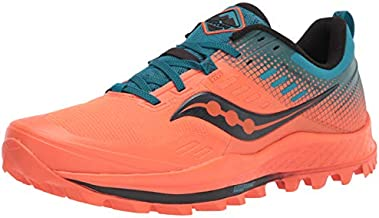 Saucony Peregrine 10 St Trail Running Shoe, Orange/Blue, 12 Medium