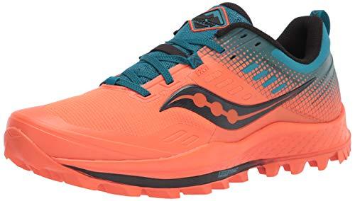Saucony Peregrine 10 ST Zapatillas para Correr sobre Camino de Tierra o Montaon Soporte Neutral para Hombre Naranja 48 EU