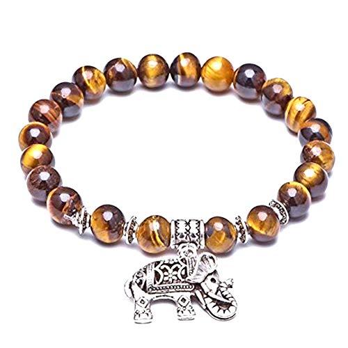 JUNGEN 22 Perlen Armbänder mit Elefant Anhänger Armkette Damen Armreifen Schmuck