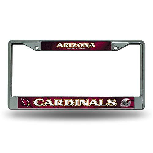 NFL Rico Industries Standard Chrome License Plate Frame, Arizona Cardinals