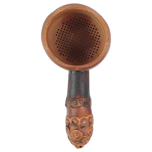 Colador De Té De Bambú, Filtro De Té De Bambú No Tóxico Y Ecológico, Accesorios Para Juegos De Té Regalo Maravilloso Para Los Amantes Del Té En Casa(Fuga de té de raíz de bambú)