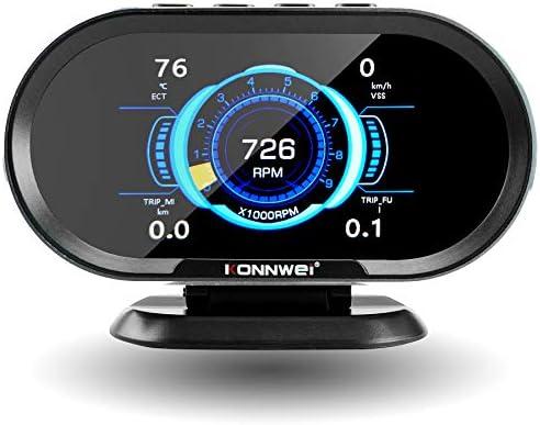 TIKSCIENCE Car OBDII OBD2 HUD Digital Meter Gauge Diagnostic Scan Tool Compatible with All Cars product image