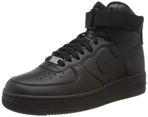 Nike Wmns Air Force 1 High, Zapatos de Baloncesto Mujer, Negro (Black/Black/Black 013), 38 EU