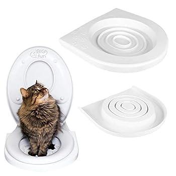 4BIG.fun Siège WC pour Chat avec système d'entraînement pour Chat