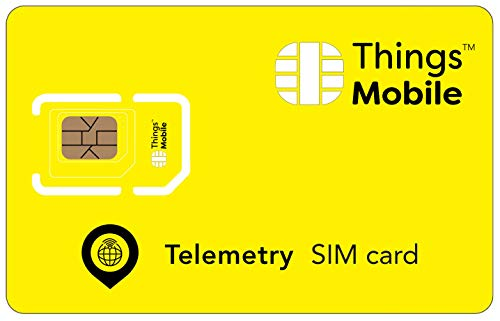 SIM-Karte für TELEMETRIE - Things Mobile - mit weltweiter Netzabdeckung und Mehrfachanbieternetz GSM/2G/3G/4G. Ohne Fixkosten und ohne Verfallsdatum. 10 € Guthaben inklusive