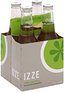 Izze Apple Sparkling Juice, 12 Ounce -- 24 per case.