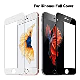 rwwrewre Protector de Pantalla para 9H 2.5D Full Cover Tempered Glass For iPhone 7 7 8 Plus Explosion-Proof Screen Protector Film For iPhone 6 6S Plus 8 8Plus X for iPhone 8 Black