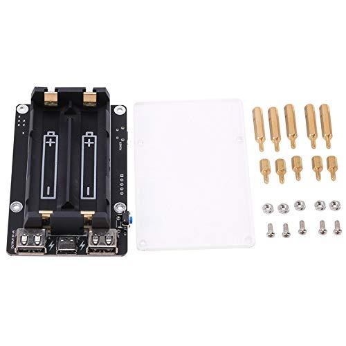 Fransande 18650 Neue USV mit RTC & Coulometer Pro Extended Netzteil mit Zwei USB AnschlüSsen für Raspberry Pi 4 B / 3B + / 3B