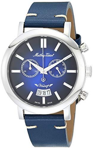 Mathey Tissot Men 's H42CHABU Quartz Blue Watch