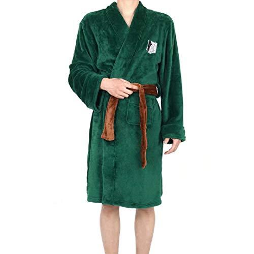 Luohua Attaque sur Titan Robe de Chambre Unisexe Luxe Sherpa doublé Robe Attaque sur Titan Ailes de liberté vêtements Peignoir