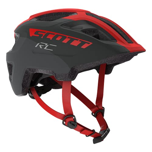 SCOTT 275232, Casco Bici Unisex Bambino, Gry/rd RC, 1size