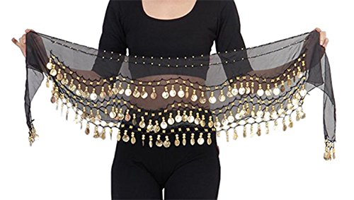 The Turkish Emporium Hüfttuch Münztuch Münzgürtel Hip Scarf Bauchtanz Samba Belly Dance