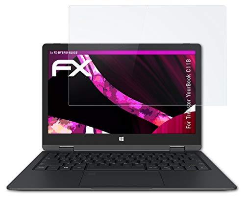 atFolix Glasfolie kompatibel mit Trekstor YourBook C11B Panzerfolie, 9H Hybrid-Glass FX Schutzpanzer Folie