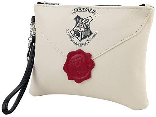 Harry Potter Letter from Hogwarts Mujer Clutch Standard, Poliuretano,