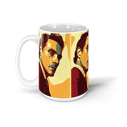 GARADO Rufus Sewell Artwork 15Oz Ceramic Coffee Mugs 961190