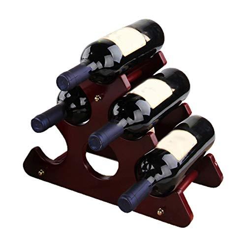 Mifty estantería de Vino Solid Wood Wine Rack Adornos Creative Wooder Botella de Vino Soporte Soporte Decoración Creativa Simple Fashion Home estantes para Vino (Color : Pink)
