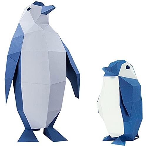 Kit De Construcción De Manualidades De Papel De Animales 3D Montaje En Pared - Decoración De Pared De Origami De Bricolaje-Modelo De Papel De Origami De Pingüino Adornos Creativos Decoración Del Hogar