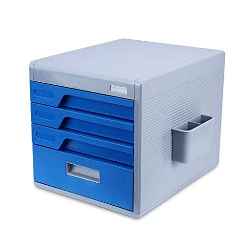 FACAIA Archivadores Material ABS de Grado alimenticio Facilita la clasificación de Archivos Diseño de contraseña de Cuatro dígitos Estantería de Material ABS para Llaves engorrosas (Color: Azul)