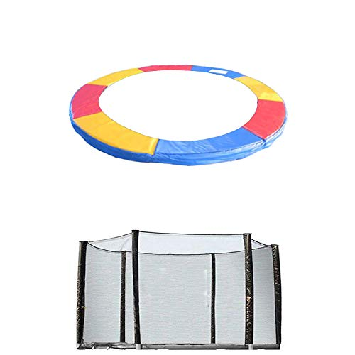 Blümme 12FT Trampoline Accessories Replacement Safety Net Enclosure Surround And Spring Cover Padding Pads Tri-Colour