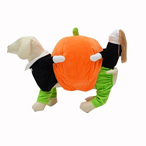 UEETEK Costume para Mascotas Disfraz para Perros Calabaza Halloween Traje Ropa...