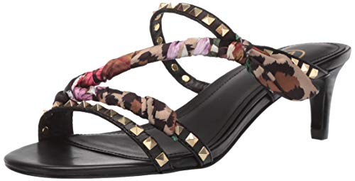 Ash Mädchen AS-Kimono Sandalen mit Absatz, Black/Flower Cheetah, 35 EU