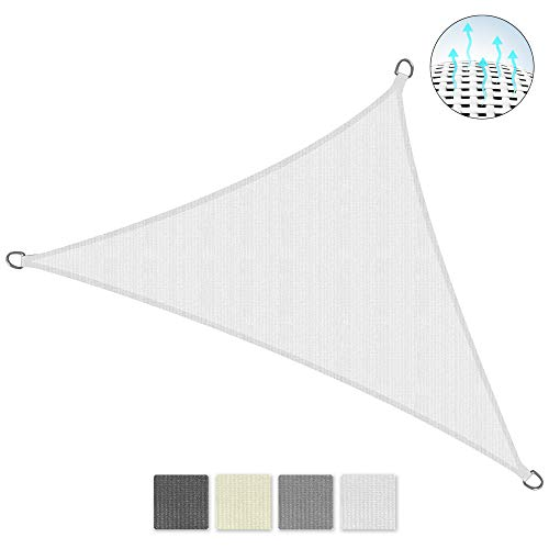 Sol Royal SolVision HS9 - Sonnensegel dreieckig 700x500x500 cm HDPE Atmungsaktiv - Weiß - Sonnenschutz UV Schutz