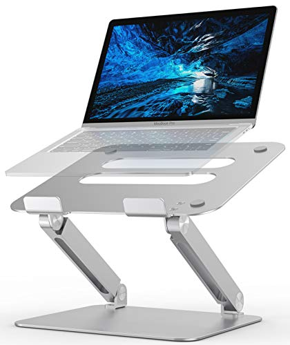 Laptop Stand, CshidworldLaptop Holder, Notebook Holder Stand with Heat-Vent, Adjustable Notebook Aluminum Stand for Laptop up to 17 inches, Compatible for MacBook Pro/Air, Surface Laptop
