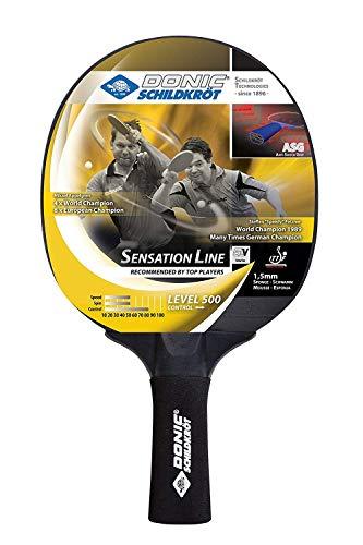 Donic-Schildkröt Raqueta de Tenis de Mesa Sensation Line 500, Mango ASG, Esponja de 1,5 mm, Almohadilla Elite-ITTF, 714402