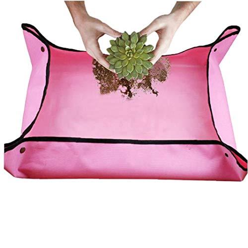linjunddd Garten Mat Mini Garten Sukkulenten Umpflanzen Pflanzen Mat wasserdichte Pflanze Umtopfen Bodenveränderung Mat Rosa für Zuhause