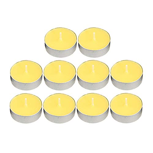 SKVVIDY Scented Candles Multi-color Scented Tea Light Candles Smokeless Tealights For Home Restaurant Candle (Color : Yellow)