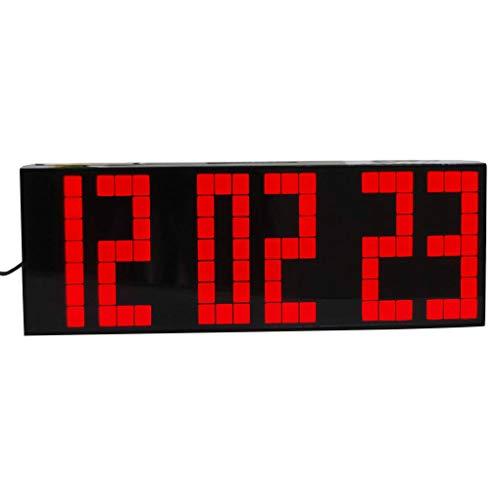 Yihaifu Mando a Distancia Grande de la Alarma LED Reloj Despertador Digital Temporizador de Cuenta Regresiva del Reloj LED de Pantalla Grande Deportes cronómetro Snooze Temperatura Inicio decortion