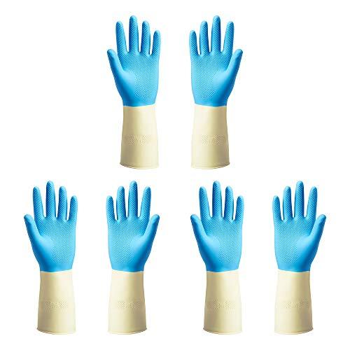 IKEA POTKES Gummi-Waschhandschuhe, Einheitsgröße, Medium, Blau, 3 Paar