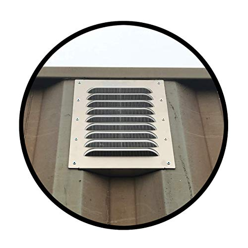 Container Modification World - Big Air 45 Louvered Gable Vent (2 Pack) for Preventing Condensation and Excessive Heat in New and Used Sea Cans, Shipping Container Homes, Cabins and Offices