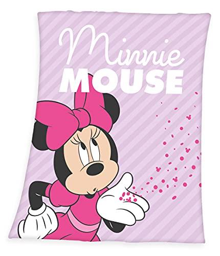 XL Disney Minnie Mouse Fleecedecke Kuscheldecke, 130x170cm