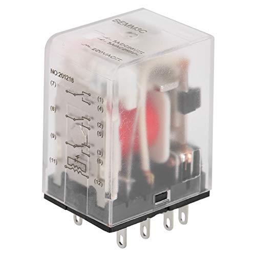 Relé intermedio BEMM3C, interruptor de relé, relé electromagnético de relé intermedio de potencia mini de 11 pines 5A AC220V