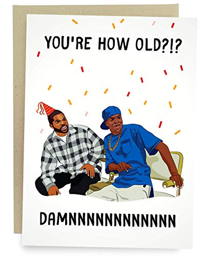 Sleazy Greetings Damn Meme Funny Birthday Card For Him Or Her | Damn You're How Old Birthday Card
