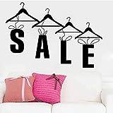 Venta de compras, tienda de ropa, calcomanías de pared de moda, pegatinas artísticas, Mural, tienda, decoración de escaparates, cotizaciones, decoración de ventas, A3 56x82cm