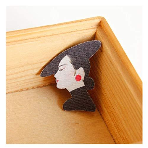 JIWEIER Señora elegante divisa de la manera europea fieltro Escudo broche de accesorios for el vestido de las mujeres del suéter de la bufanda del sombrero bolsa de decoración broches para las mujeres