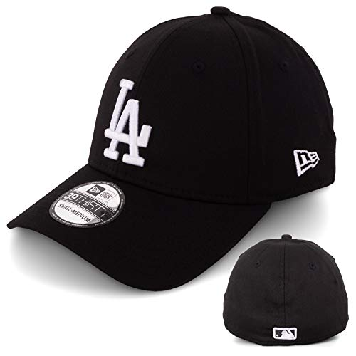 New Era Basecap Baseball Cap Herren Limited Edition MLB Mütze 39THIRTY Stretch Fit New York Yankee, LA Dodgers, Essential Basic (Black/White, XS/S)