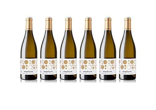 Celler Coop. Gandesa | Vino Blanco Fermentado En Barrica Somdinou 2016 | D.O. Terra Alta | Pack de 6 botellas de 75cl.