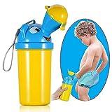 Kind Potty Urinal, tragbare Wiederverwendbare Notfall Mini Wc Training Pee für Outdoor Camping Auto Reise für Baby Boys & Girls (Color : Blue+Yellow)