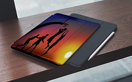 MEMETARO Funda para iPad (9,7 Pulgadas 2018/2017 Modelo), Juego de Baloncesto Smart Leather Stand Cover with Auto Wake/Sleep