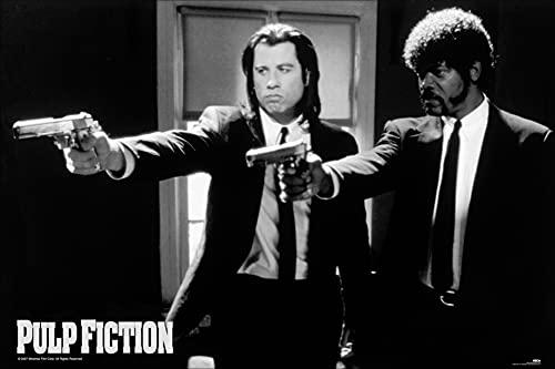 1art1 Pulp Fiction – John Travolta en Samuel L Jackson poster 91 x 61 cm