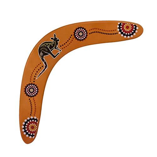 CLISPEED Holzbumerang V Form Übergeben Bumerang Rückkehr Sport Bumerangs Manöver Pfeil Fliegendes Spielzeug für Erwachsene im Freien Kinder