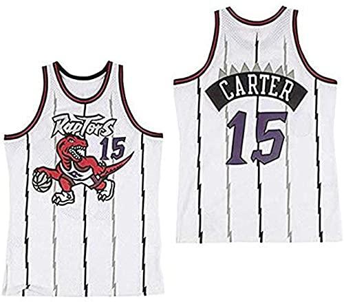 xzl NBA Toronto Raptors 15 # Vince Carter Maglia Vintage All-Star, Uomo E Unisex Ricamato Basket T-Shirt Jersey, B - XL