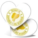 Impresionante pegatinas de corazón de 15 cm – Ecuador Sudamérica viajes sellos divertidos calcomanías para portátiles, tabletas, equipaje, reserva de chatarra, frigorífico, regalo genial #4658