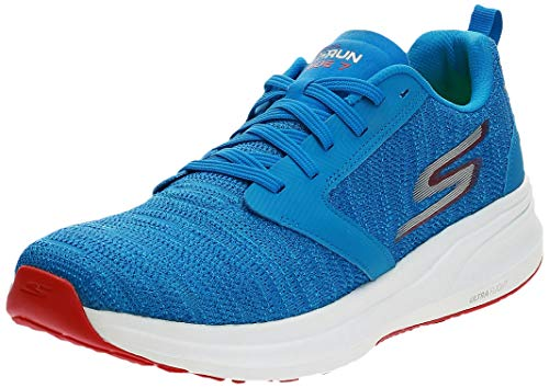 Skechers Mens Go Run Ride 7 Running Shoes Houston Marathon 2019 (8 M US, Royal/Red)