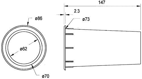 Visaton Lautsprecherzubehör und -Teile, Baßreflexrohr, ohne Schrauben zu befestigen. (973977000011)