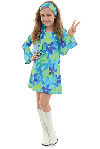 Girl's 60's Groovy Costume for Dress Up and Halloween - Harmony