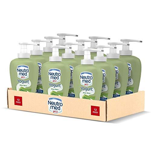 Neutromed Detergente Mani Liquido Yogurt Aloe Vera, Sapone Igienizzante Mani, 12 Pezzi x 300 ml